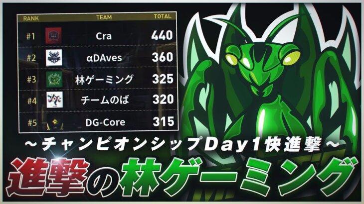 【荒野行動】チャンピオンシップDay1、進撃の林ゲーミング!