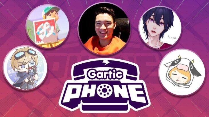 【Gartic Phone】お絵かき伝言ゲーム。仏、れんぴき、ゆりな、JUMP、あつやん、らり、おもらし くままむ