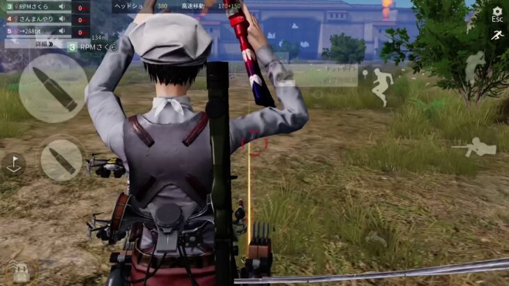 【荒野行動】進撃の巨人 城壁防衛戦 進撃 1人で、できるもん! 中級