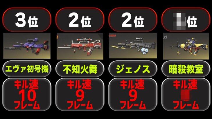 【荒野行動】95式の銃スキンごとのキル速ランキング【全16種】